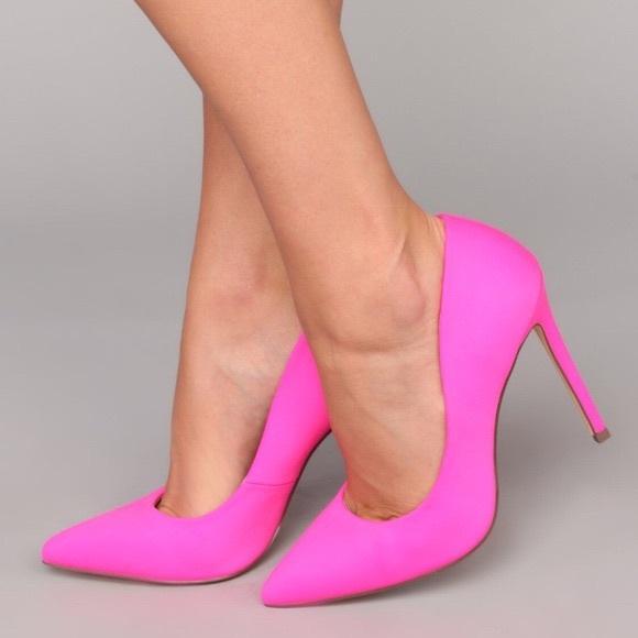 Fashion Nova Shoes | Pink Neon Heels